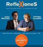 Carlos Melconián y Santiago Kovadloff en Bahía Blanca